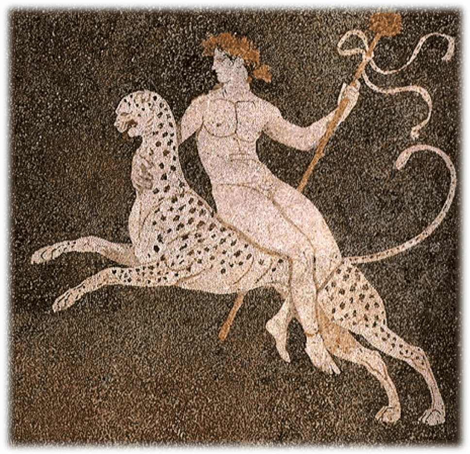 Dionysus with leopard